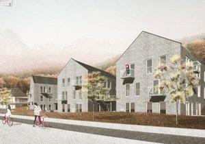 Vítězná podoba nového centra pro seniory v Šáreckém údolí.