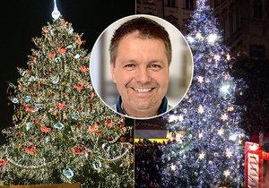 Jakub Olbert se už 13 stará o výzdobu vánočních trhů i vánočních stromů v centru hlavního města.