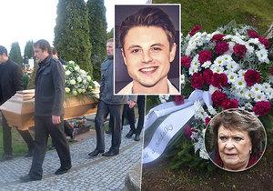 Pohřeb herce Aleše Kubáta (†30): Zdrcená maminka,bílé růže a vzpomínka od Bohdalky!