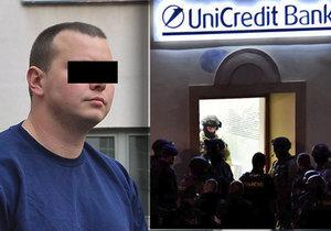 Přepadení banky v Příbrami: Pachatel do vězení nepůjde! Nebyl příčetný