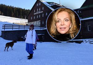 Dagmar Havlová pozdravila z chaty, kde před 44 lety natáčela film Holka na zabití.