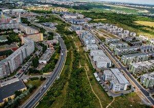 Ilustrační foto. Letecké pohledy na Radlickou ulici.