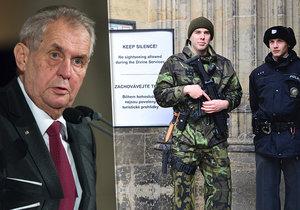 Zastupitelé z Prahy 6 poprosili prezidenta o zrušení bezpečnostních prvků na Pražském hradě.