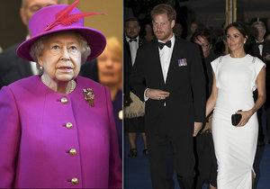 Královna Alžběta II. dosud nedala Harrymu a Meghan svolení k užívání královského titulu pro jejich dítě.