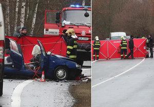 Ve felicii napálil čelně do tatry: Řidič osobáku na místě zemřel