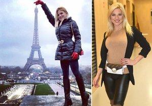 Eva Perkausová zapózovala u Eiffelovky.