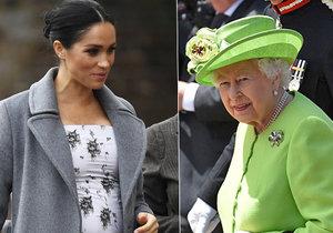 Těhotná vévodkyně Meghan se nenudí: Královna ji zavalila prací!