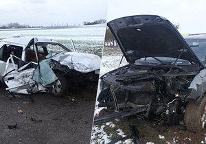 Tragická srážka aut na křižovatce u Náchoda zasáhla i děti: Nepřežil ji jeden z řidičů