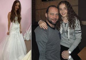 Jessica Šlégrová, dcera Jiřího Šlégra, si oblékla svatební šaty.