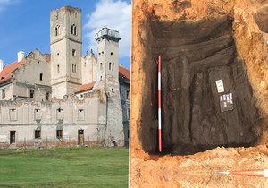 Archeologové z Archaia Brno našli při průzkumu břeclavského zámku doklady, že už kolem roku 1000 bylo v Břeclavi osídlení.