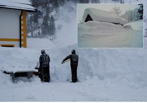 Rakousko zasypal na začátku ledna 2019 sníh