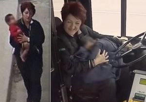 Pohotová řidička Irena Ivićová zachránila malé dítě.