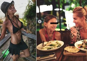 Dara Rolins a její dcera Laura na Bali