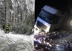 Kvůli sněhu a větru už týden zasahují hasiči u desítek událostí především v horských oblastech Karlovarského kraje.