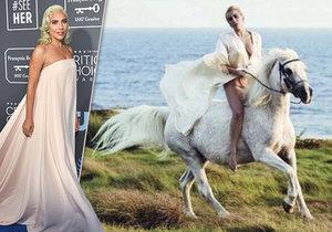 Lady Gaga se svou milovanou kobylkou Arabellou