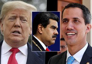Trump chce uznat za prezidenta Venezuely vůdce opozice