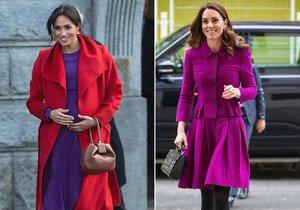 Které fuchsiová sluší víc? Meghan nebo Kate?