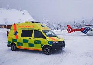 V Jeseníkách se těžce zranila šestnáctiletá lyžařka! Letěl pro ni vrtulník