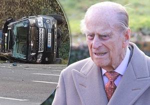 Britský princ Philip měl autonehodu.
