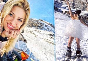 Moderátorka Eva Perkausová si užívala zimních radovánek v Itálii