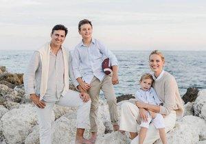 Karolína Kurková, manžel a synové Noah Lee Drury Kurka a Tobin Jack Drury