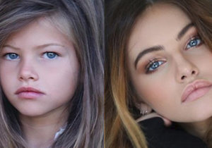 Porovnání dvou fotografií, které sama na svůj Instagram zaslala modelka Thylane Blondeau