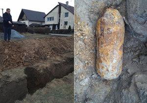 Kvůli nálezu sto kilové pumy muselo být v Bohuslavicích na Opavsko evakuováno několik domů.