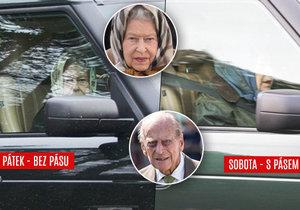 Královská rodina si na pásy moc nepotrpí. Vypadá to, že Alžběta i Philip se poutají, jen když se veřejnost dívá.
