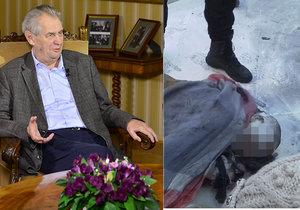 Zeman odmítl nové pokusy o upálení v Praze: Pro boj za pravdu se musí žít