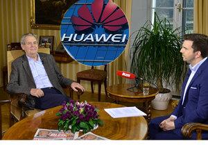 Zeman: V případu Huawei jde o obchodní válku, ne o špiclování