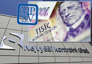 """Ministerstvo práce a sociálních věcí """"nasekalo"""" chyby za více než 730 milionů korun. Kontroloři si posvítili nejen na IT systémy"""