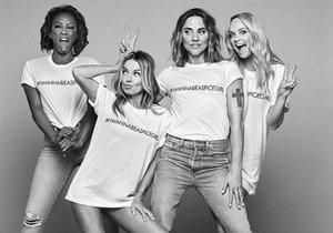 Tričkem Spice Girls se pochlubila na Instagramu spousta lidí mezi nimi i celebrity.