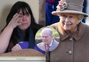 Královna Alžběta II. poslala zraněné ženě, do které naboural princ Philip, vzkaz plný vřelých slov.