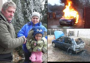 Josef (77) dostal v autě mrtvičku: To začalo hořet! Soused František vytáhl jeho i Denisku (2)