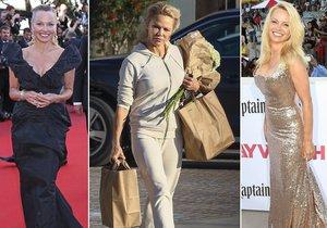 Pamela Anderson dokáže být jak za šmudlu z teplákovce, tak i za dámu na červeném koberci