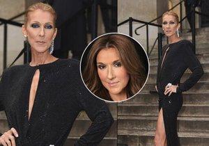 Céline Dion na módní přehlídce v Paříži