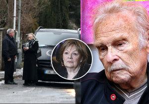Luděk Munzar (†85): Rodina se s ním loučila 12 hodin. Hlaváčová na pohřbu nebude?!