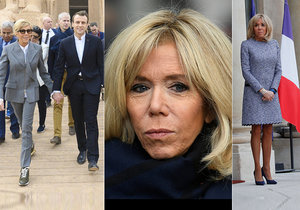 První dáma Francie Brigitte Macronová proslula svým vytříbeným módním vkusem, minišaty obvykle doplňuje lodičkami s vysokými podpatky, do Egypta ale vyrazila v teniskách.