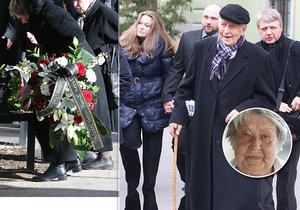 Rodina se loučila s Marií Kyselkovou bez hereckých kolegů.