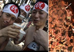 Bizarní japonský festival Hadaka Matsuri. Tisíce mužů se při něm rvou o dřevěné tyčinky!