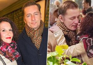 Petr Vondráček vyvedl svou staronovou milenku Adélu Hájkovou.