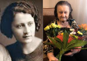 Marie Schwarzová z Brna oslavila 109. narozeniny.