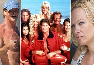 Herci ze seriálu Pobřežní hlídka dříve a nyní