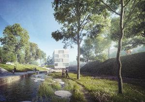 Jedna z vizualizací, jak by mohlo vypadat okolí Motolského potoka.
