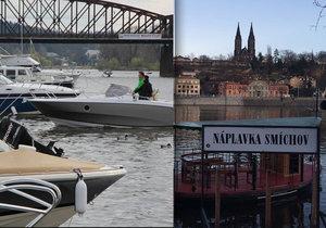 Na Smíchově je nejvytíženější místo z hlediska lodní dopravy, ročně se tu eviduje až 26 tisíc proplutí.