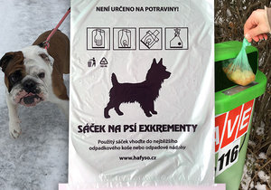 Řádně vyhozené exkrementy pražských psů končí ve spalovně, vzniká z nich energie.