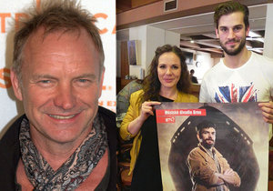 Dva z hlavních protagonistů muzikálu. Kristian Pekar a Lucie Bergerová.