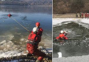 První pomoc při pádu pod led.