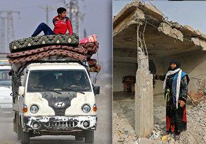 Syřany vracející se do města Hadžin přivítaly trosky, z jejich domů nic nezbylo.
