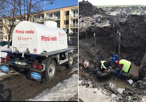 Východ Prahy bez vody! V Běchovicích praskl vodovod, odřízl 15 tisíc lidí